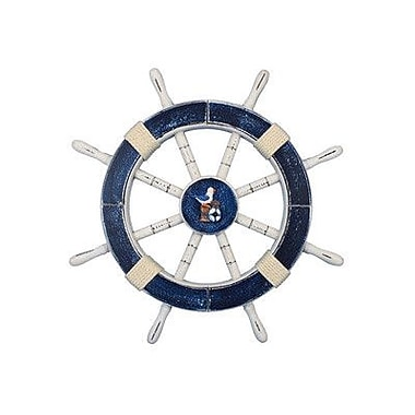 Handcrafted Nautical Decor Ship 18'' Decorative Ship Wheel w/ Seagull and Lifering Wall D cor
