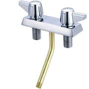 Central Brass Double Handle Shampoo Faucet