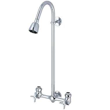 Central Brass Double 4 Arm Handles Exposed Shower Faucet