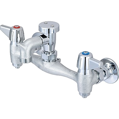 Central Brass Double Handle Wall Mount Utility Faucet