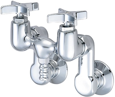 Central Brass Double Handle Wall Mounted Tub Faucet Handles