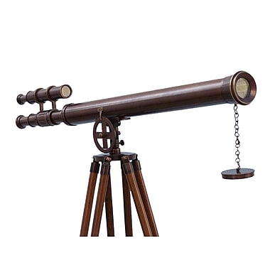 Handcrafted Nautical Decor Griffith Astro Refracting Telescope; Bronze