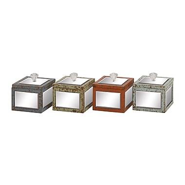 Cole & Grey Wood Mirror Jewelry Box