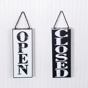 Adams & Co 2 Piece Open/Closed Double Sided Sign Wall D cor Set