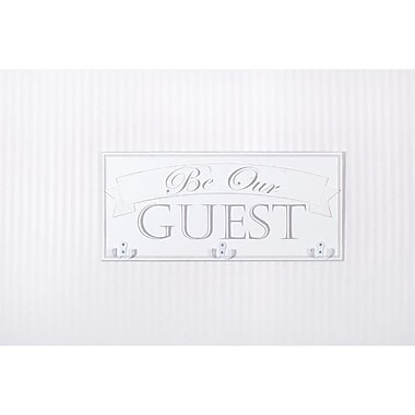 Adams & Co Be Our Guest Hook Board Wall D cor