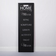 Adams & Co Family Home Sign Chalkboard Wall D cor