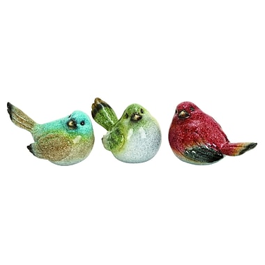 Cole & Grey 3 Piece Bird Sculpture Set