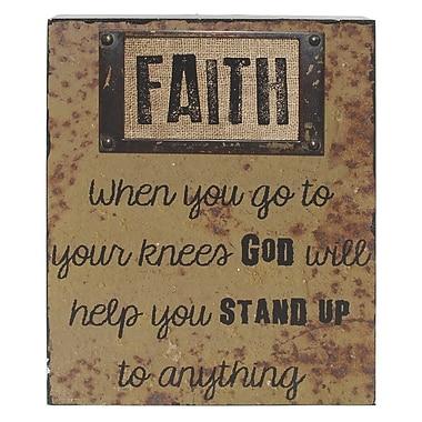 Blossom Bucket 'Faith' Box Sign Wall D cor