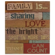 Blossom Bucket 'Family Is' Multicolored Box Sign Wall D cor