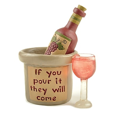 Blossom Bucket 'If You Pour It' Wine Bottle w/ Glass Sculpture