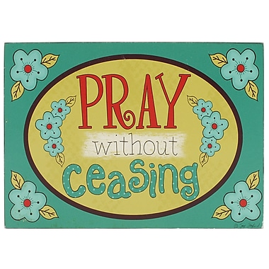 Blossom Bucket ''Pray Without Ceasing'' Box Sign Wall D cor