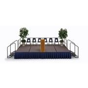 Midwest Transfold Fixed Platform Hardboard Stage; 8'' H x 48'' W x 96'' D