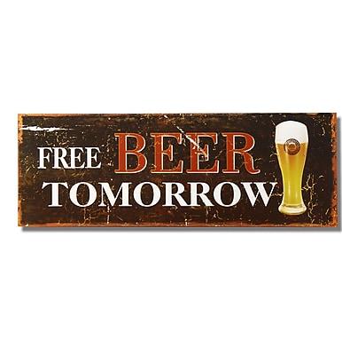 AdecoTrading ''Free Beer Tomorrow'' Wall D cor