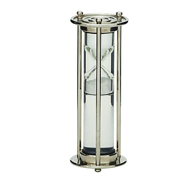 Cole & Grey Glass Floating Sand Timer Hourglass