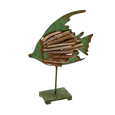 Cole & Grey Decorative Driftwood Metal Fish Figurine