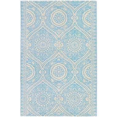 Bungalow Rose Antero Cristina Hand-Tufted Blue/Ivory Area Rug