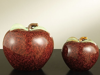 Crestview Apple Statue (Set of 2)