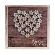 American Mercantile Wood Love Plaque Wall D cor
