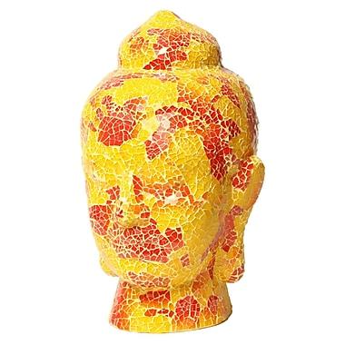 Amrita Singh Buddha Head Bust; Yellow/Orange