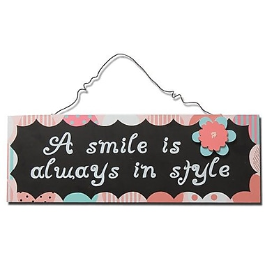 AdecoTrading ''A Smile Is Always in Style'' Wall D cor