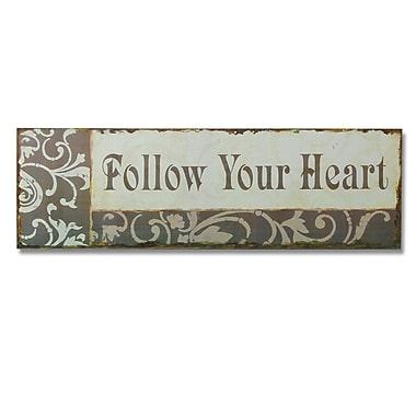 AdecoTrading ''Follow Your Heart'' Wall D cor