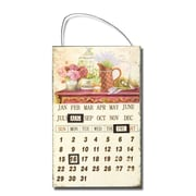 AdecoTrading Inspired Iron Wall Hanging Sign Calendar w/ Watering Can And Rose Detail Wall Art