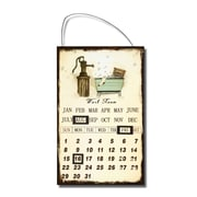 AdecoTrading Inspired Iron Wall Sign Calendar ''Bath Room'' Wall Art