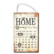 AdecoTrading Inspired Iron Wall Sign Calendar ''Home Sweet Home'' Wall Art