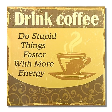 AdecoTrading ''Drink Coffee'' Wall D cor