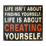 American Mercantile Metal Sign 'Creating Yourself' Wall D cor