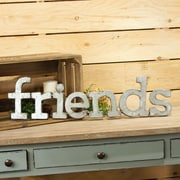 American Mercantile 'Friends' Metal Words Wall D cor