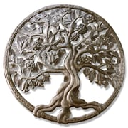 BeyondBorders Carved Roots Round Wall Decor