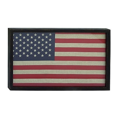 Cole & Grey Wood Flag Wall D cor