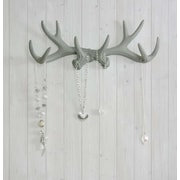 Wall Charmers Faux Taxidermy Antler Hook; Gray