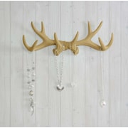 Wall Charmers Faux Taxidermy Antler Hook; Khaki
