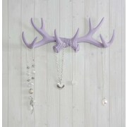 Wall Charmers Faux Taxidermy Antler Hook; Lavender
