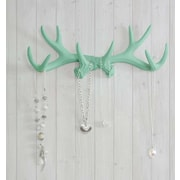 Wall Charmers Faux Taxidermy Antler Hook; Mint Green