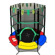 Newacme LLC Youth Jumping 55'' Round Trampoline w/ Safety Enclosure