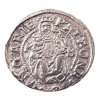 American Coin Treasure Ancient Silver Madonna and Child Coin