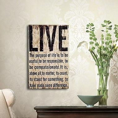 Winston Porter ''Live'' Wood Wall D cor