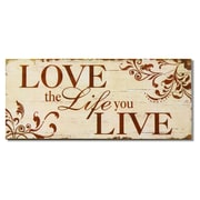 AdecoTrading ''Love the Life you Live'' Wall Decor
