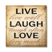 AdecoTrading ''Live Laugh Love'' Wall Decor