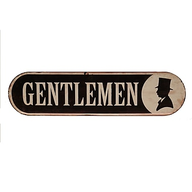 Bathroom Signs Staples american mercantile metal bathroom sign 'gentlemen' wall d cor