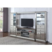 BestMasterFurniture Mirrored Entertainment Center