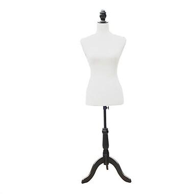 Willa Arlo Interiors Agastya Fashion Mannequin Female Dress Form w/ Base; White