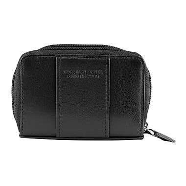 Mancini Manchester Collection Black Leather RFID Secure Accordian Card Case (2010115-BLACK)