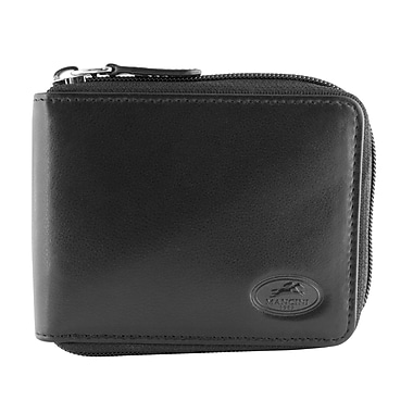 Mancini Manchester Collection Leather RFID Secure Zippered Wallets
