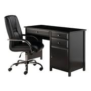 Winsome - Ensemble de bureau Delta 2 pièces, bureau et fauteuil haut dossier, noir (22233)
