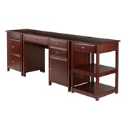 Winsome Delta 3-Piece Home Office Set, Walnut (94387)