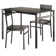 Winsome - Ensemble de table à dîner Milton, 3 pieces, 2 chaises